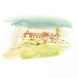 Postcard Csillag István - Daniel Castle from Vârghiș