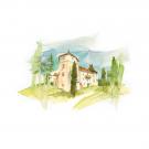 Carte poștală Csillag István - Castelul Kemény din Brâncovenești